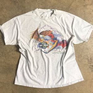 90s Harley Eagle vs Dragon Battle Graphic Tee HD